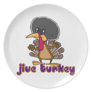 funny jive turkey cartoon with text dinner plate