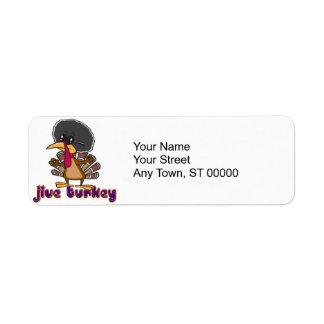 funny jive turkey cartoon with text label