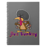 funny jive turkey cartoon with text spiral note books