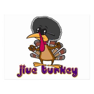funny jive turkey cartoon with text postcard