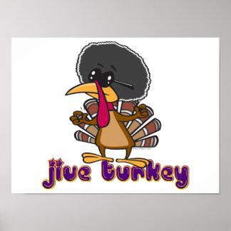 funny jive turkey cartoon with text poster