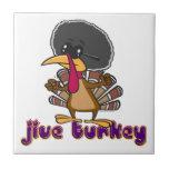 funny jive turkey cartoon with text tile