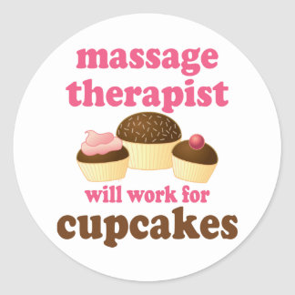 Funny Job Chocolate Massage Therapist Classic Round Sticker