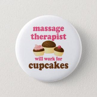 Funny Job Chocolate Massage Therapist Pinback Button