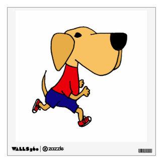 Funny Jogging Labrador Dog Wall Sticker