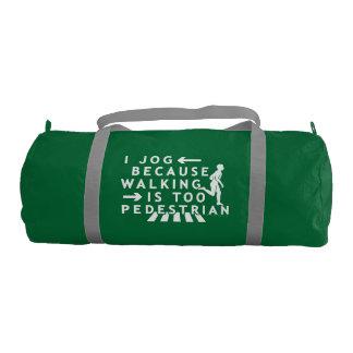 Funny Jogging Running Pedestrian Joke Duffle Bag