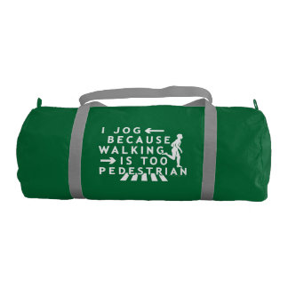 Funny Jogging Running Pedestrian Joke Gym Duffel Bag