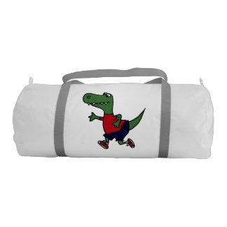 Funny Jogging T-Rex Dinosaur Gym Bag Gym Duffel Bag