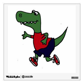 Funny Jogging T-rex Dinosaur Wall Sticker