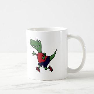 Funny Jogging Trex Dinosaur Classic White Coffee Mug