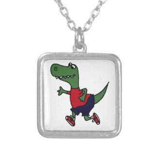 Funny Jogging Trex Dinosaur Custom Jewelry