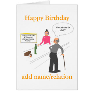 Funny Joke Birthday card add name front