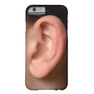 Funny Joke Humorous Left Ear Photo Illusion Barely There iPhone 6 Case