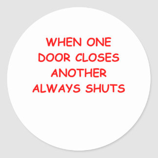funny jokes for you classic round sticker