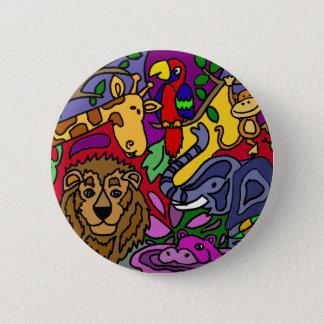 Funny Jungle Abstract Art Original Pinback Button