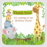 Funny Jungle Animals Thank You Sticker