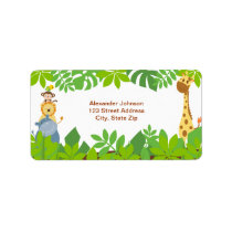 Funny Jungle Baby Animals Address Label