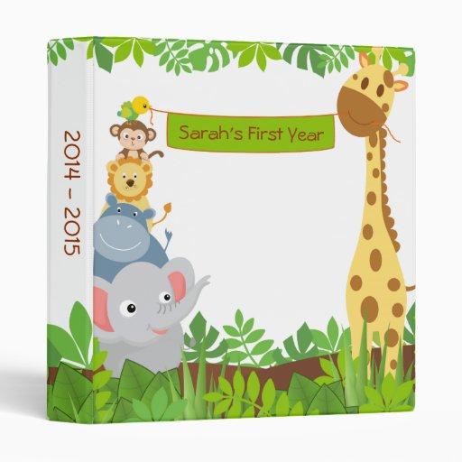Funny Jungle Baby Animals Photo Album Binders