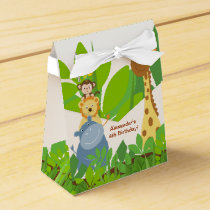 Funny Jungle Baby Animals Tent Favor Box