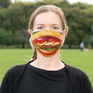 funny junk food cheese burger Hamburger Cloth Face Mask
