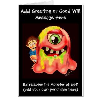 Funny just circumcised cartoon card - add name
