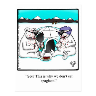 Funny Just For Laughs Polar Bear Postcard