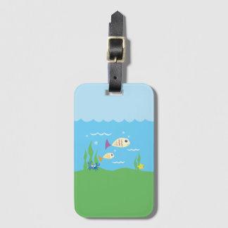 Funny Just Keep Swimming Underwater Ocean Fish Bag Tag