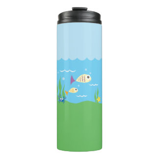 Funny Just Keep Swimming Underwater Ocean Fish Thermal Tumbler