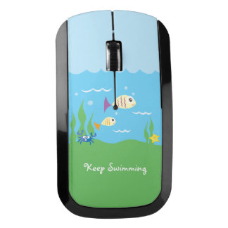 Funny Just Keep Swimming Underwater Ocean Fish Wireless Mouse
