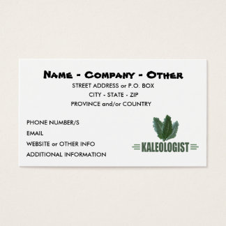 Funny Kale Lover Business Card