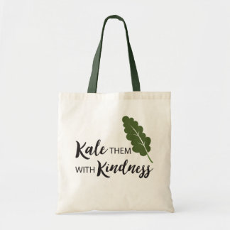 FUNNY KALE THEM WITH KINDNESS TOTE BAG | VEGETABLE