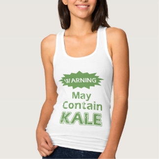Funny Kale Womens Slim Fit Racerback Tank Top
