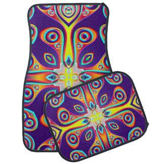 Funny Kaleidoscope Pattern XXIX Car Floor Mat