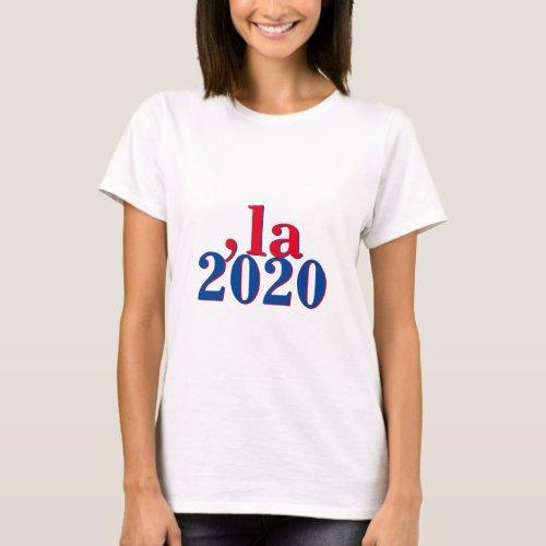 Funny Kamala Harris Comma La 2020 T_Shirt