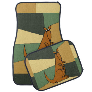 Funny Kangaroo Art Floor Mat