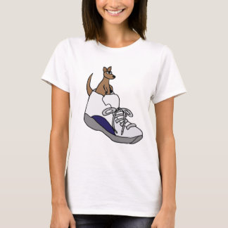 Funny Kangaroo in High Top Tennis Shoe Design