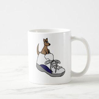 Funny Kangaroo in High Top Tennis Shoe Design Coffee Mug