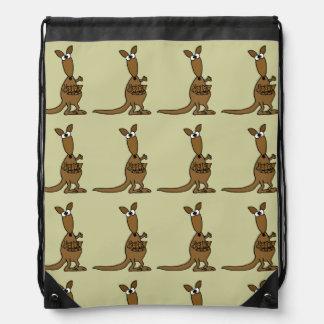 Funny Kangaroo with Babies Backpack