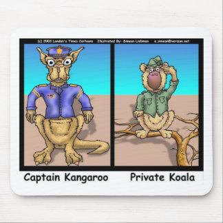 Funny Kangaroos & Koala Funny Cartoon Gifts Tees Mouse Pad