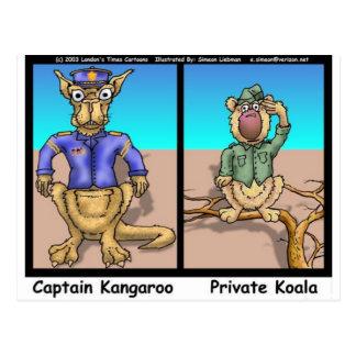 Funny Kangaroos & Koala Funny Cartoon Gifts Tees Postcard
