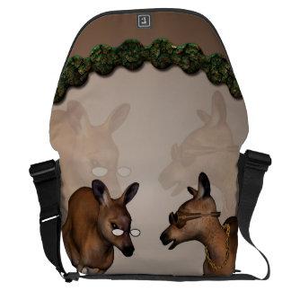 Funny kangaroos messenger bag
