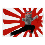 Funny Karate Kitten gifts Greeting Cards
