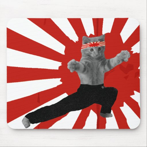 Funny Karate Kitten gifts Mouse Mat