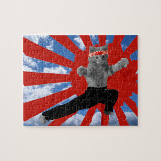 Funny Karate Kitten gifts Jigsaw Puzzles