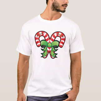 Funny Kawaii Christmas Candy Cane Mens Tshirt