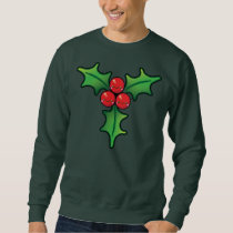 Funny Kawaii Christmas Holly Berry Mens Jumper Sweatshirt