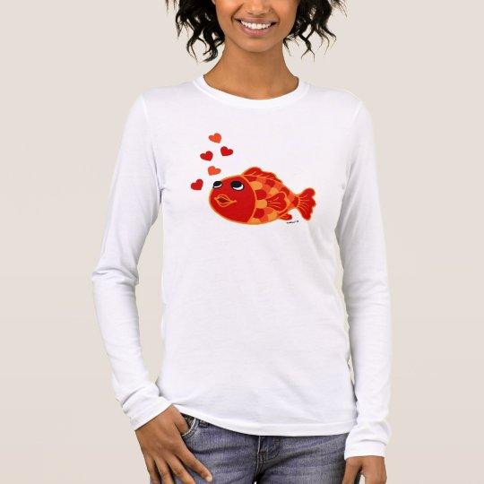 Funny Kawaii Goldfish Cartoon Long Sleeve T-Shirt