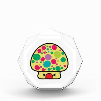 funny kawaii toadstool mushroom house acrylic award