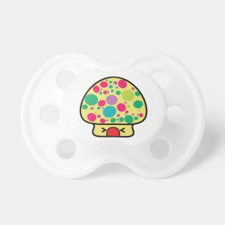 funny kawaii toadstool mushroom house pacifier