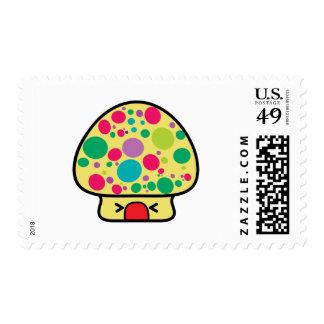 funny kawaii toadstool mushroom house postage